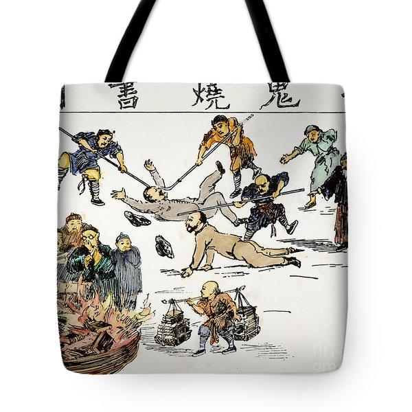 China: Anti-west Cartoon Tote Bag by Granger