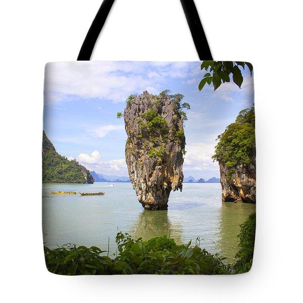 007 Island   2 Tote Bag by Mark Ashkenazi