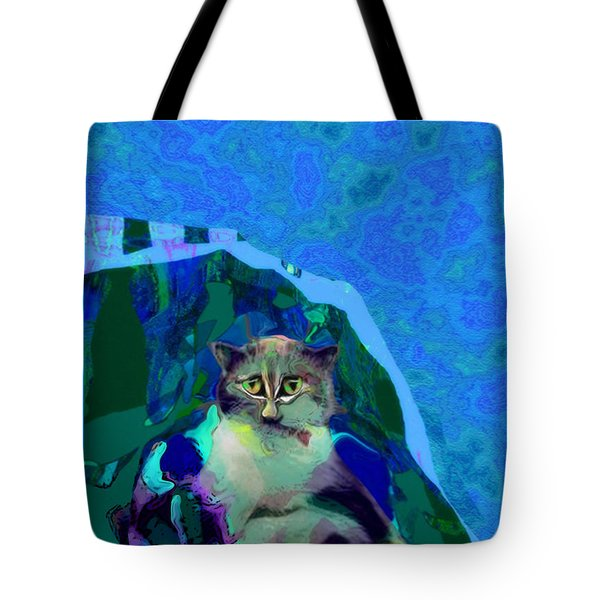 007 The Under Covers Cat Tote Bag