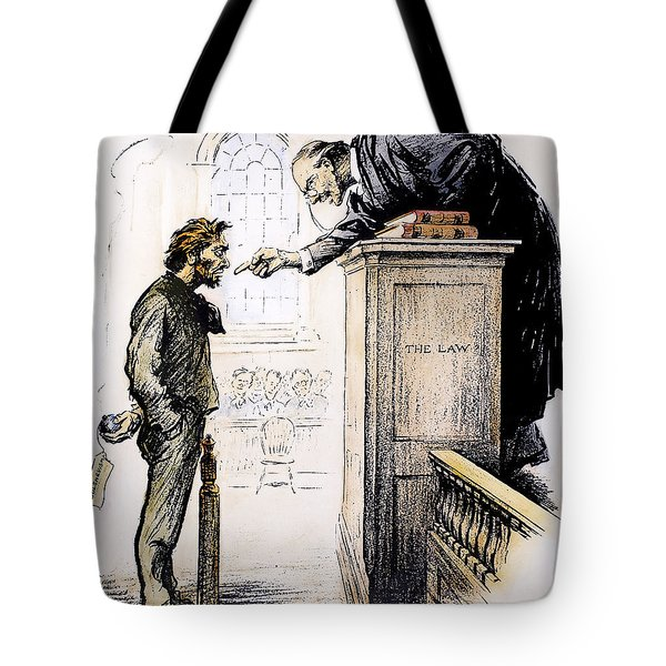 Red Scare Cartoon, 1919 Tote Bag by Granger