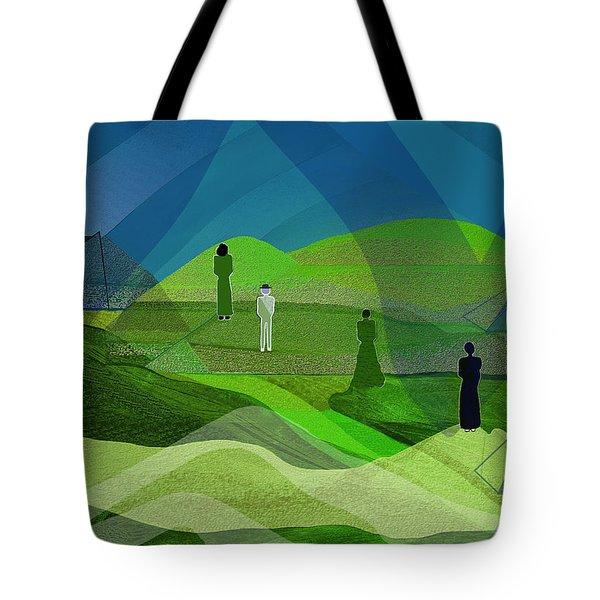 009  Human Figures In Landscape 2017 Tote Bag