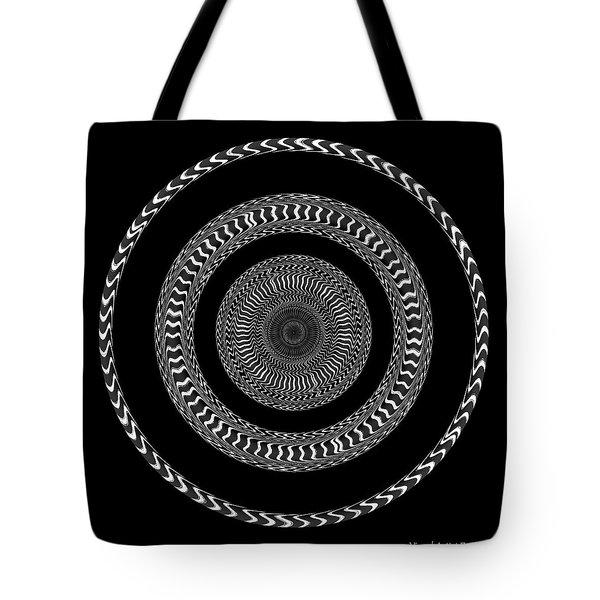 Tote Bag featuring the digital art #011020152 by Visual Artist Frank Bonilla