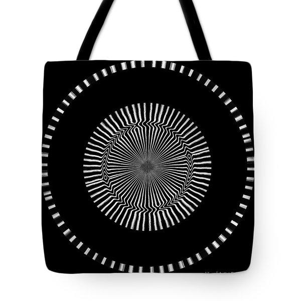 Tote Bag featuring the digital art #011020157 by Visual Artist Frank Bonilla