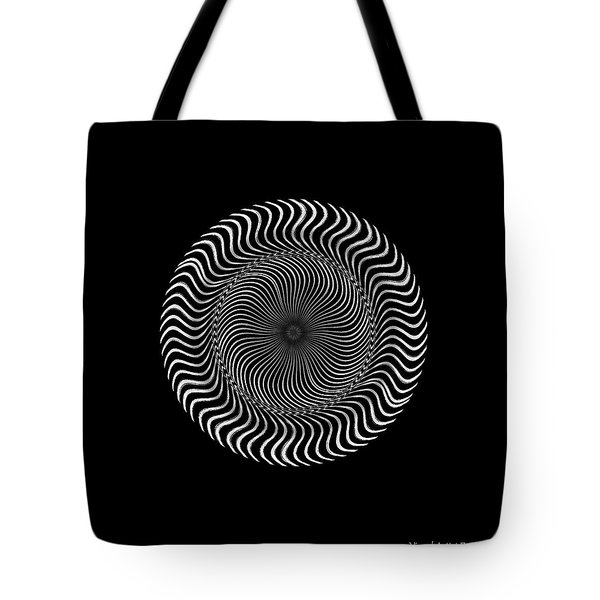 Tote Bag featuring the digital art #011020159 by Visual Artist Frank Bonilla