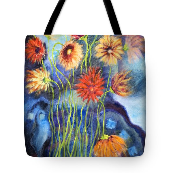 01314 African Daisies Tote Bag by AnneKarin Glass