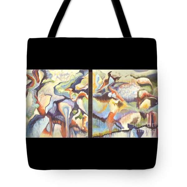 01315 Light Year Diptych Tote Bag by AnneKarin Glass