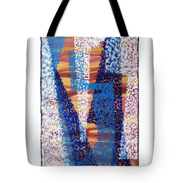 01325 Blue Too Tote Bag by AnneKarin Glass