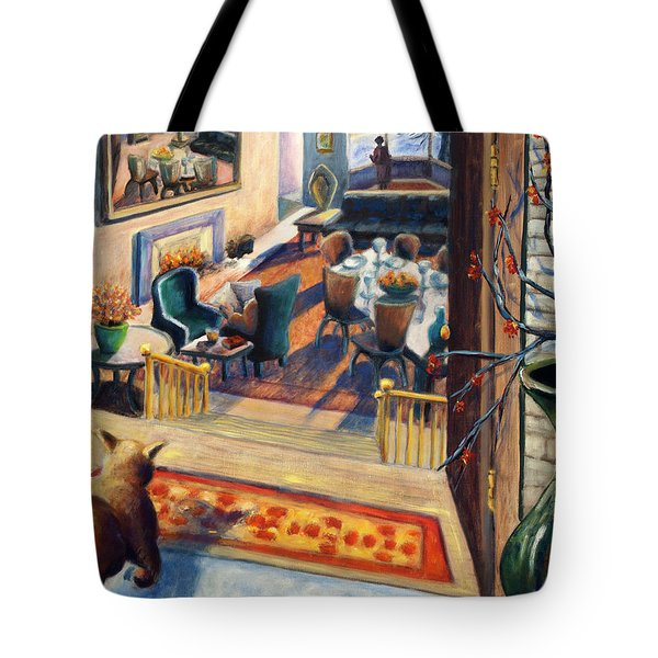 01348 Awaiting Guests Tote Bag by AnneKarin Glass