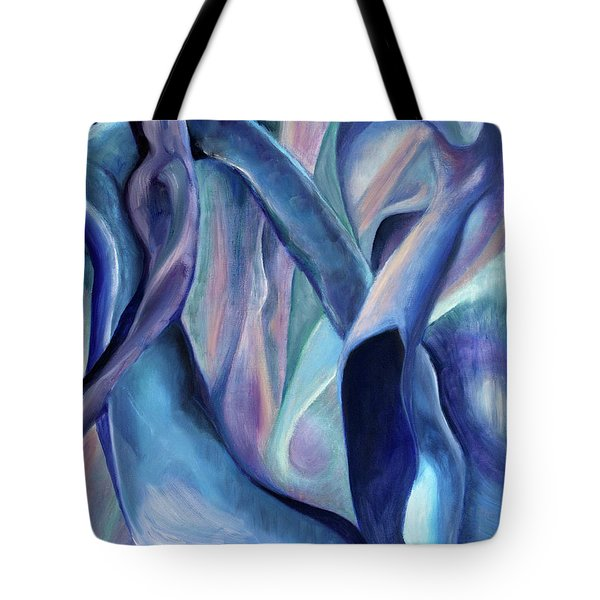 01354 Blue Dream Tote Bag by AnneKarin Glass