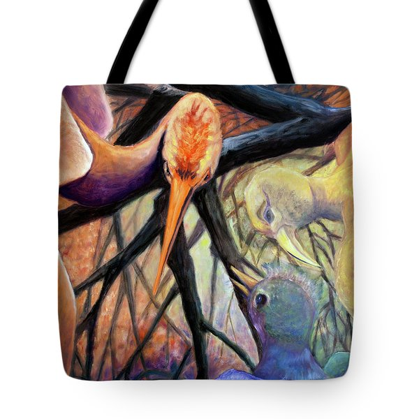 01357 Jungle Talk Tote Bag by AnneKarin Glass