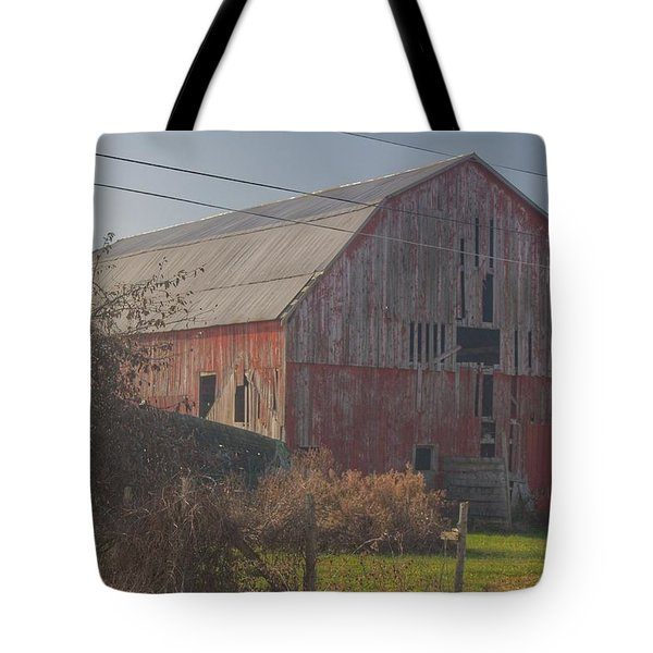 0153 - Dodge Road Red I Tote Bag
