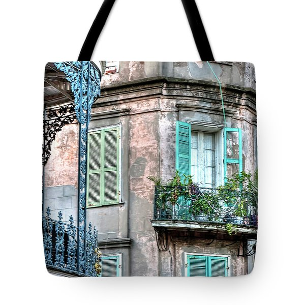 0254 French Quarter 10 - New Orleans Tote Bag