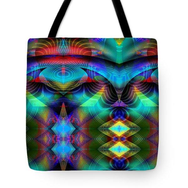 Tote Bag featuring the digital art #030620161 by Visual Artist Frank Bonilla