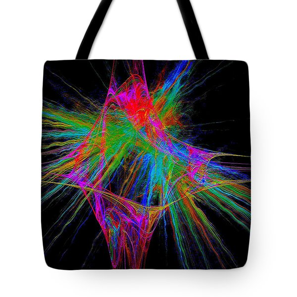 Tote Bag featuring the digital art #030920163 by Visual Artist Frank Bonilla