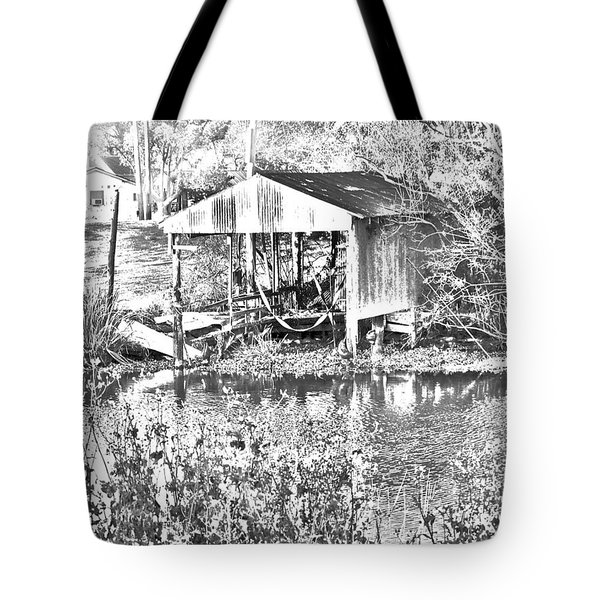 03192015 Boat Shed Lafourch Parish Tote Bag
