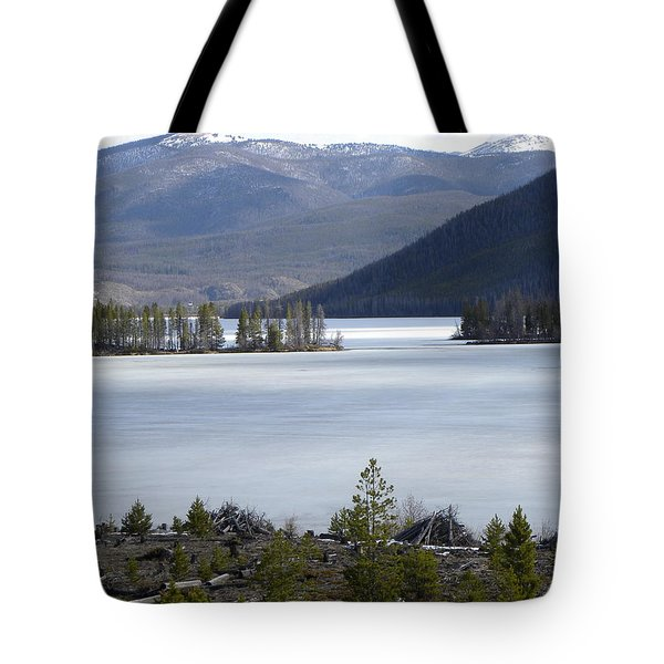 Tote Bag featuring the photograph Granby Lake Rmnp by Margarethe Binkley