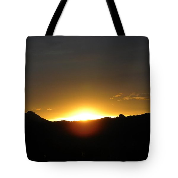 Sunrise West Side Of Rmnp Co Tote Bag