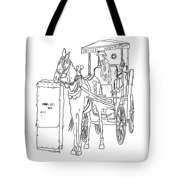 04061025 Horse And Buggy Tote Bag