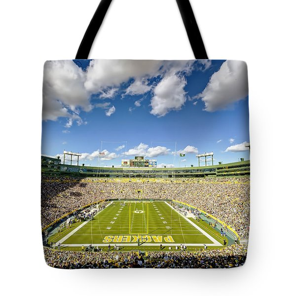 0538 Lambeau Field Tote Bag by Steve Sturgill