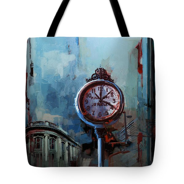060 Milwaukee County Historical Society's Street Clock Frozen In Time Tote Bag