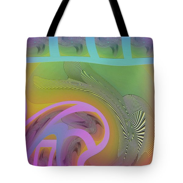 Tote Bag featuring the digital art #061220173 by Visual Artist Frank Bonilla
