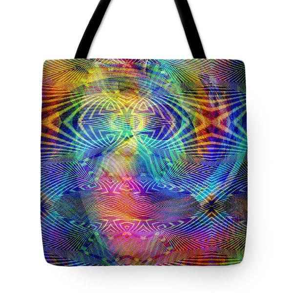Tote Bag featuring the digital art #0619201517 by Visual Artist Frank Bonilla