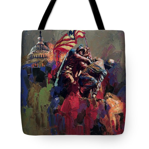 062 Jima Marine Memorial Washington Dc Tote Bag