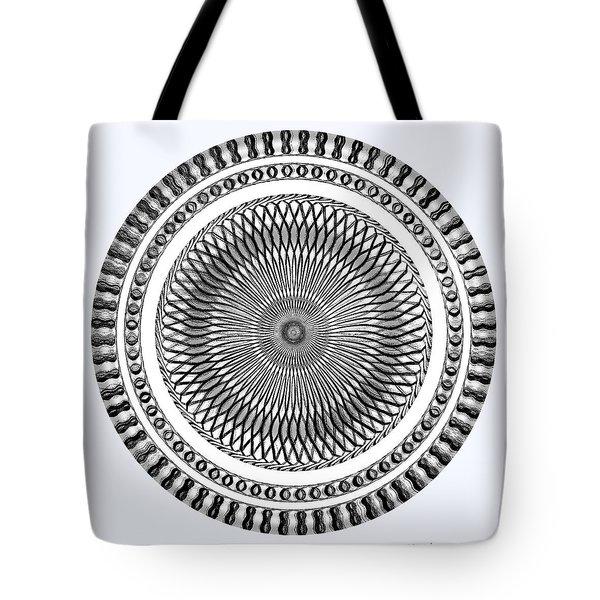 Tote Bag featuring the digital art #0700420157 by Visual Artist Frank Bonilla