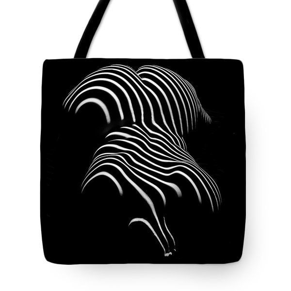 0721-ar Black And White Fine Art Nude Abstract Big Woman Bbw Tote Bag by Chris Maher