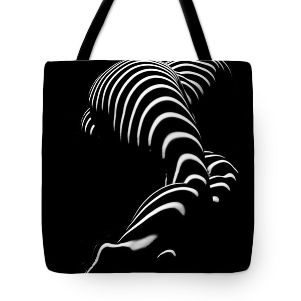 0774-ar Zebra Striped Figure Of A Large Woman Fine Art Photograph By Chris Maher Tote Bag