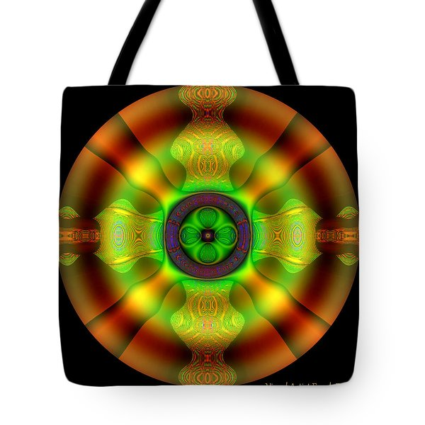 Tote Bag featuring the digital art #0803020152 by Visual Artist Frank Bonilla
