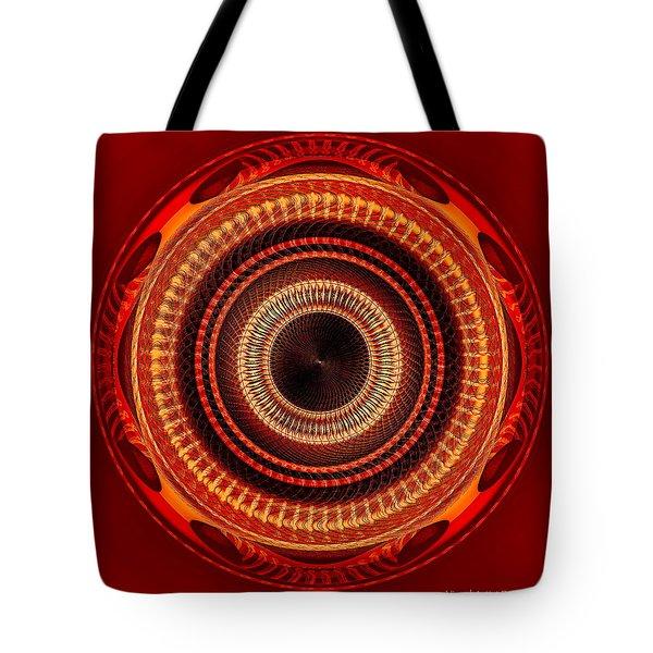 Tote Bag featuring the digital art #091520152 Orange Version by Visual Artist Frank Bonilla
