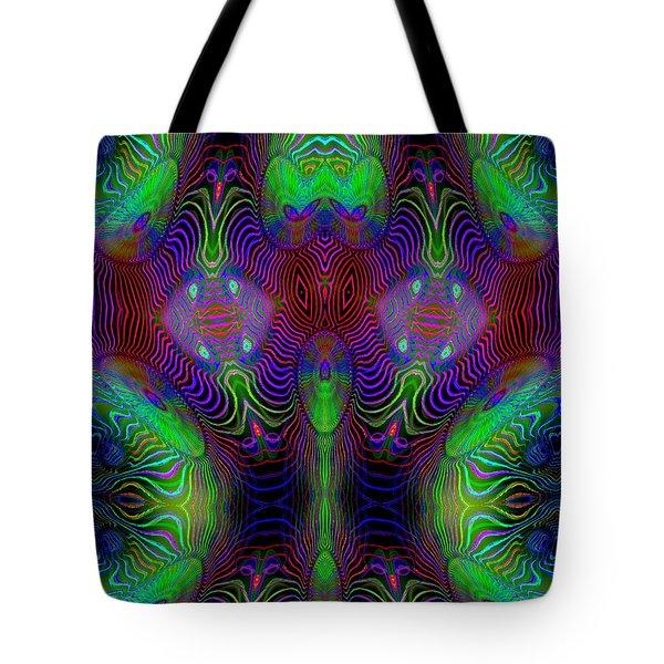 Tote Bag featuring the digital art #092820151 by Visual Artist Frank Bonilla