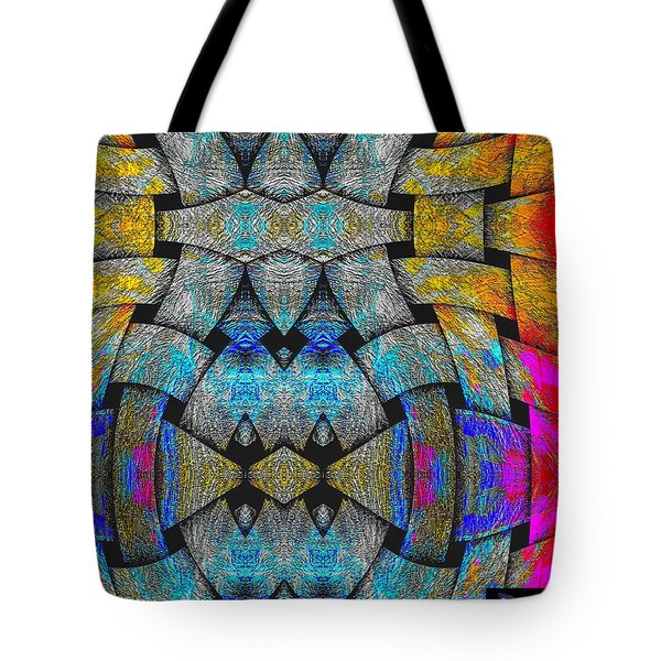 Tote Bag featuring the digital art #092920156 by Visual Artist Frank Bonilla