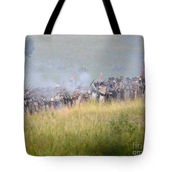 Gettysburg Confederate Infantry 7503c Tote Bag