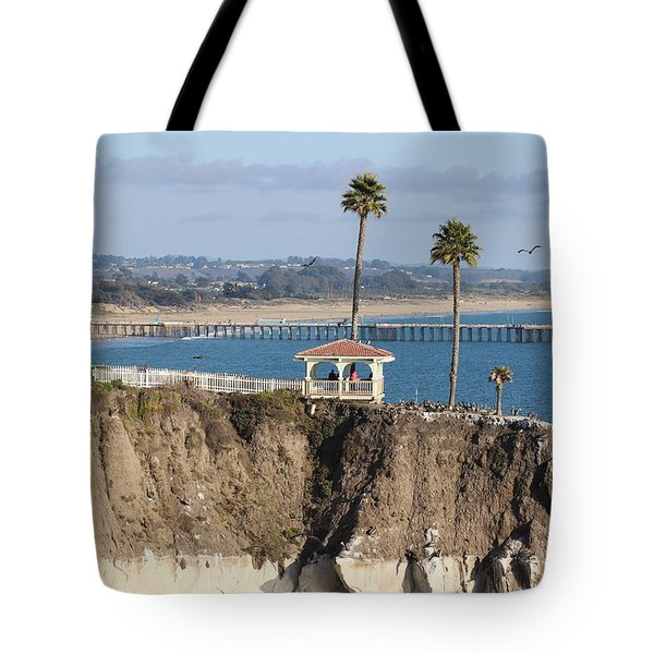 Pismo Beach Gazebo And Pier Tote Bag