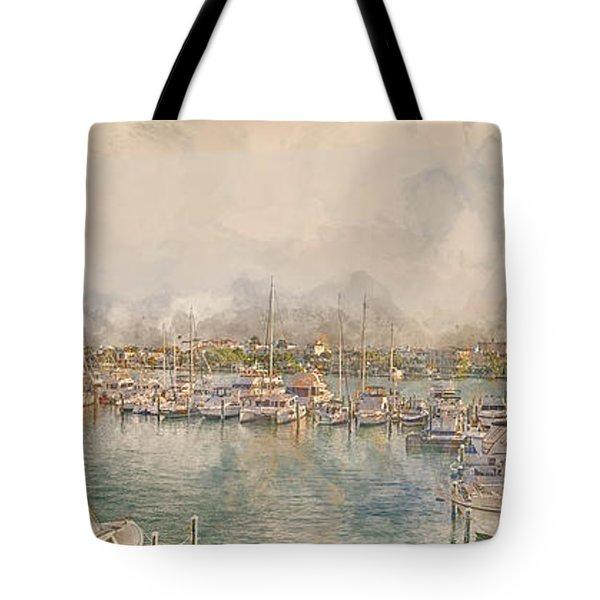 10879 Clearwater Marina Tote Bag
