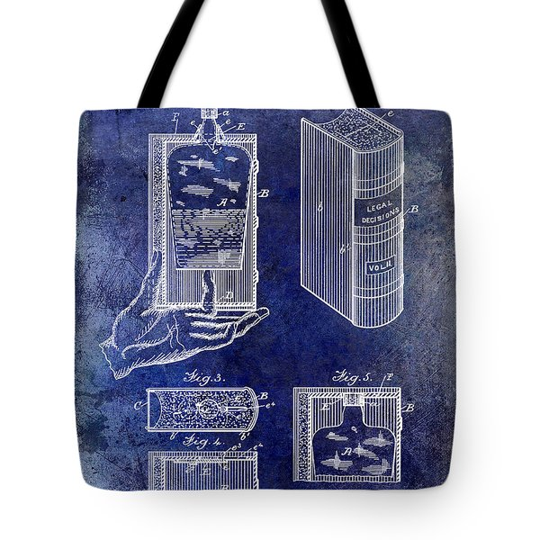 1885 Liquor Flask Patent Tote Bag