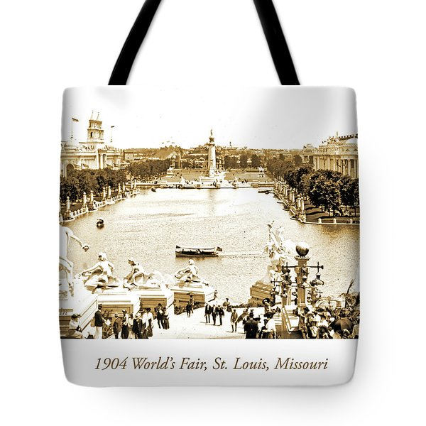 1904 World's Fair, Grand Basin View From Festival Hall Tote Bag