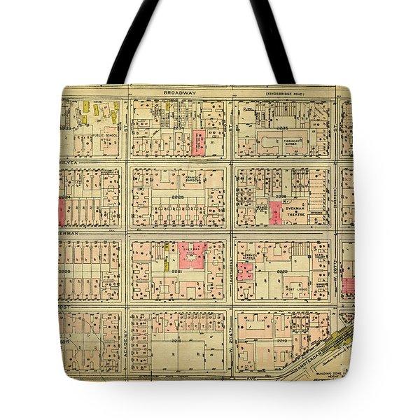 1927 Inwood Map  Tote Bag