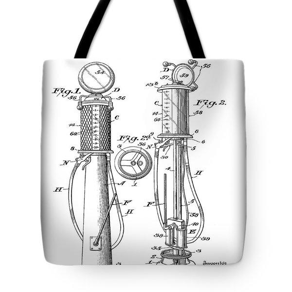 1930 Gas Pump Patent Tote Bag