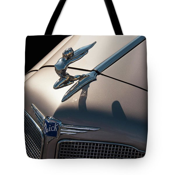 Tote Bag featuring the photograph 1930s Buick Flying Lady Hood Ornament by Chris Flees