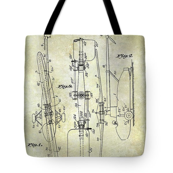 1935 Helicopter Patent  Tote Bag