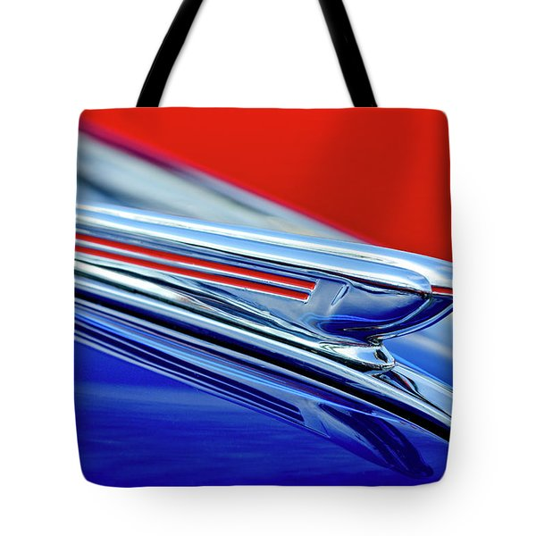 1938 Chevrolet Hood Ornament 2 Tote Bag by Jill Reger