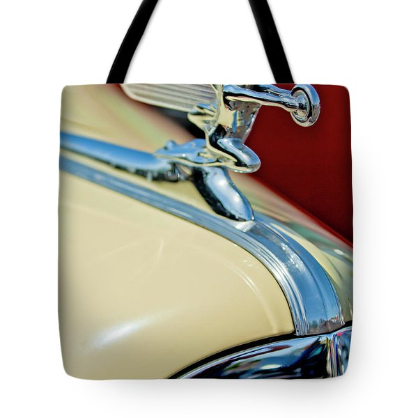 1940 Packard Hood Ornament Tote Bag by Jill Reger