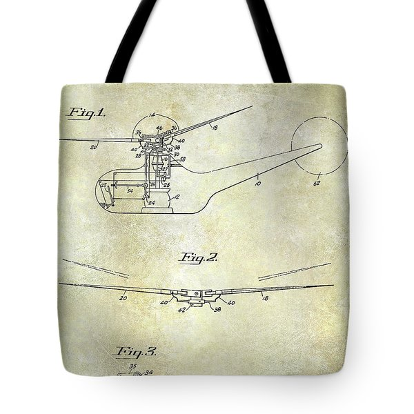 1947 Helicopter Patent Tote Bag