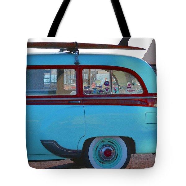 1954 Pontiac Chieftain Station Wagon Tote Bag by Bill Owen