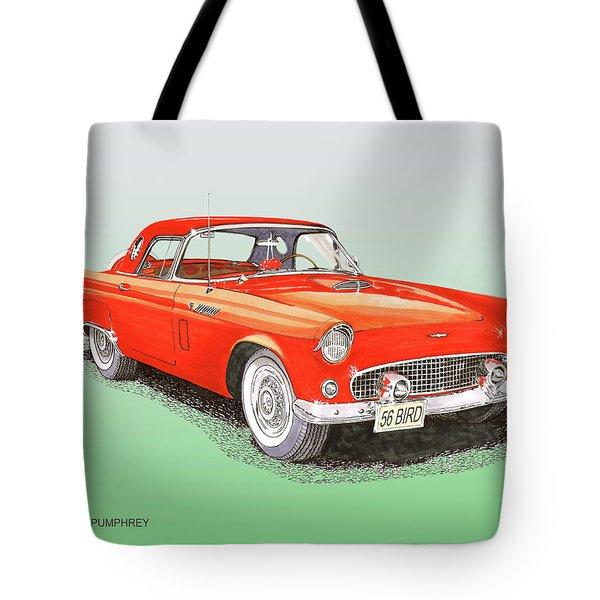 1956 Ford Thunderbird Tote Bag