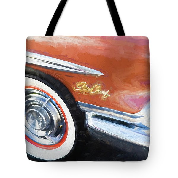 Tote Bag featuring the photograph 1958 Pontiac Star Chief  by Rich Franco