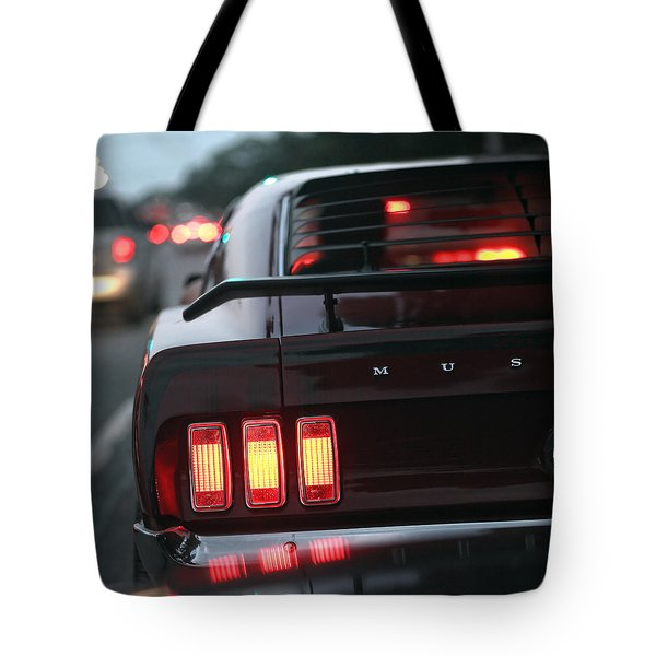 Tote Bag featuring the photograph 1969 Ford Mustang Mach 1 by Gordon Dean II